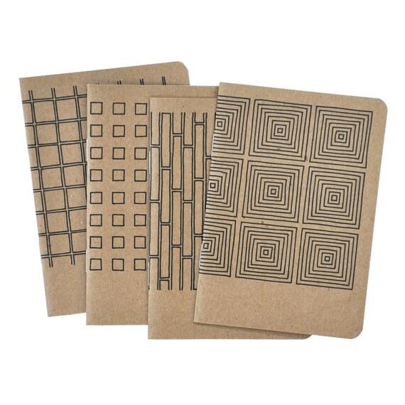 4 Pocket Notebooks, Geometric No.1