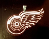 Detroit Red Wings Necklace Charm