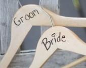 Wedding Hangers Bride and Groom Rustic Photo Props (item E10113)