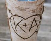 Birch Vase Centerpiece Personalized