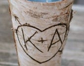 Personalized Birch Vase Home Decor Rustic Chic (Item Number MHD100003)