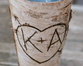 Personalized Birch Vase Rustic Wedding Decor Bridal Shower Gift   #BraggingBags