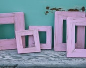 Set of 5 Distressed Custom Barn Wood Style Wedding Frames (item P10356)