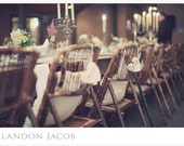 Bride and Groom Chair Signs Rustic (item E10149)