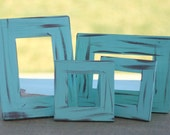 U PICK the colors Set of 4 Distressed Barn Wood Style Frames
