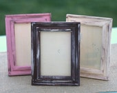 Set of 6 Custom Vintage Barn Wood Style Wedding Frames (item P10343)