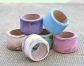50 You Pick The Color Wood Napkin Rings For Your DIY Wedding Distressed Finish