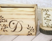 Personalized Card Box and Guest Book SET Rustic Wedding Decor (Item Number 140219)