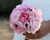 Silk Bride Bouquet Ranunculus Rustic Chic Wedding (Item Number 140269)