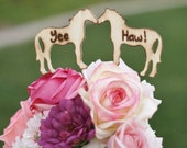 Rustic Cake Topper Horses Country Barn Wedding Decor (item E10578)