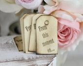 Rustic Wedding Favor Tags Love Quote Country Chic Decor SET of 100