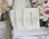Wedding Favor Bags Chandelier Rustic SET of 50 (item S10299)
