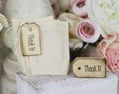 Wedding Favor Bags Thank You Shabby Chic Candy Bags SET of 100