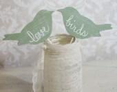 Wedding Cake Topper Love Birds Shabby Chic Wedding Decor (item P106031)
