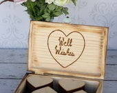Wedding Guest Book Rustic Chic Well Wishes Box Personalized Decor (item E10133)