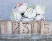 Country Table Numbers Distressed Wedding Decor Rustic Barn Farm Shabby Chic Decor (item P10361)