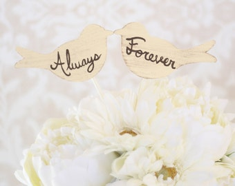 Wedding Cake Topper Love Birds Always and Forever (item P10550)