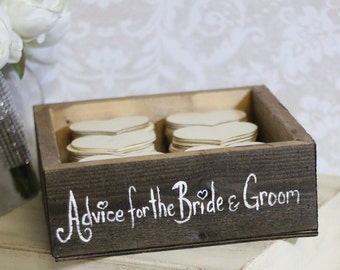 Rustic Guest Book Box Advice For The Bride and Groom Medium (item P10415)