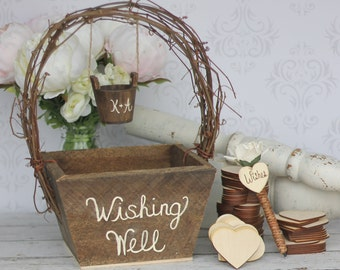 Wedding Guest Book Rustic Personalized Wishing Well (item P10440)
