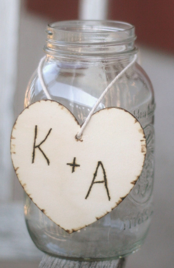 Items similar to wedding centerpiece charms wood hearts