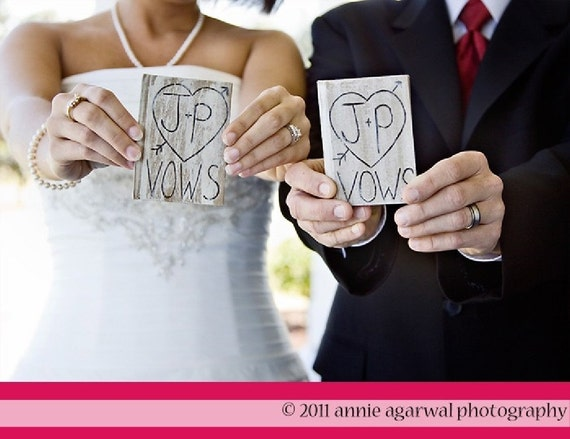 SET of 2 Wedding Vow Notebooks Personalized Engraved (item E10194)