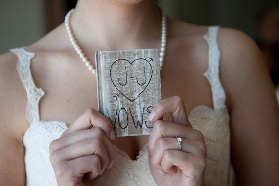 Wedding Vows Book Personalized Vintage Wedding Decor