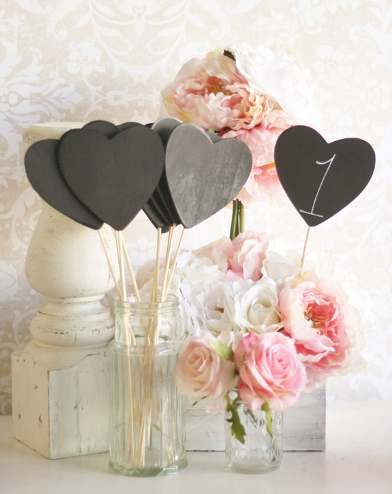 Chalkboard Signs Table Numbers Rustic Wedding Decor SET of 12 (Item Number 140225)