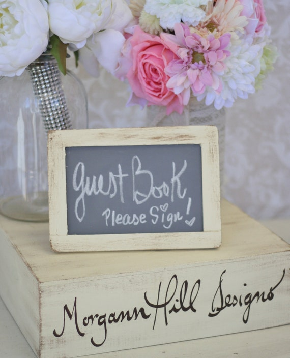 Shabby Chic Wedding Chalkboard Sign 4x6 Rustic Decor (item P10106)
