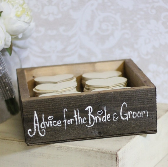 Cute Rustic Wedding Ideas: Rustic Guest Book Box Advice For The Bride And By Braggingbags