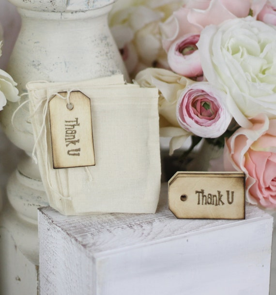 Items Similar To Wedding Favor Bags Thank You Shabby Chic
