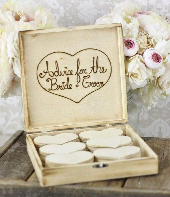 rustic wedding guest book advise box