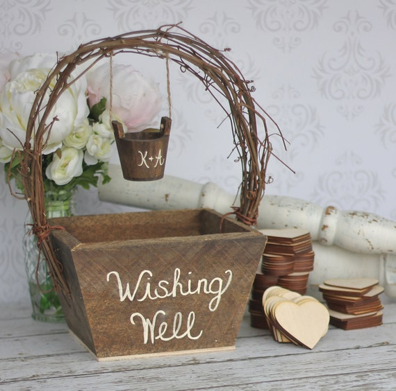 Wedding Guest Book Alternative Rustic Wedding Personalized Wishing Well