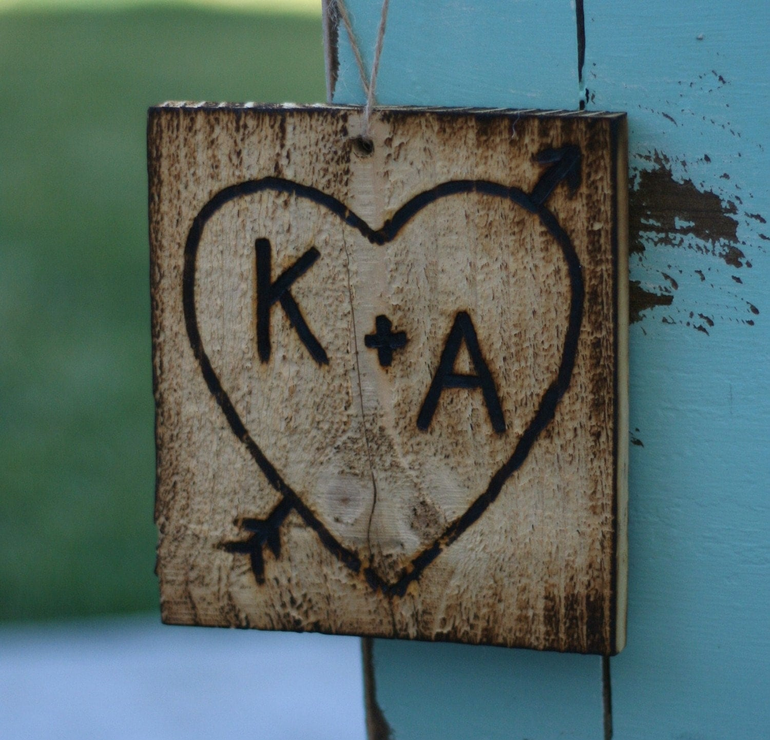 Initial Home Decor: Rustic Sign Vintage Home Decor Personalized By Braggingbags