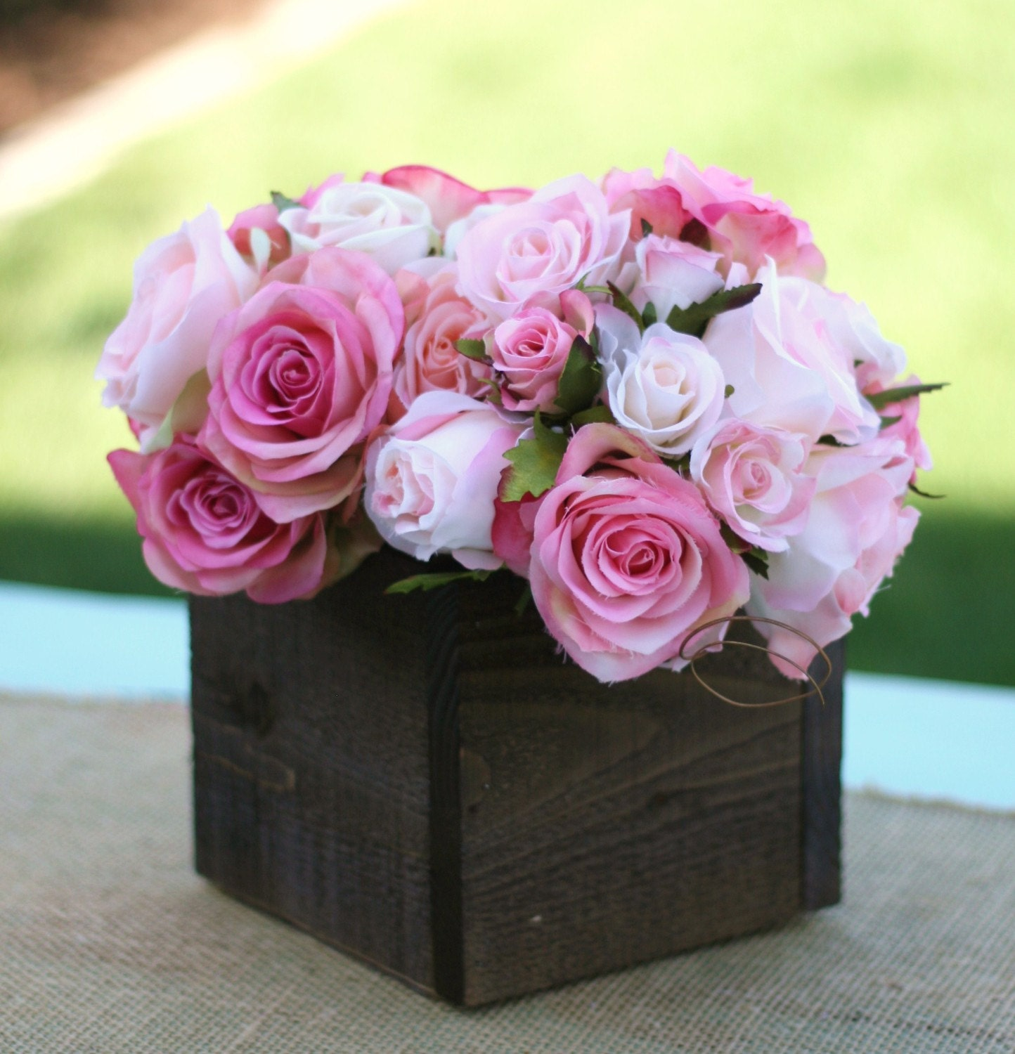 Wood clean easy free planter box centerpieces