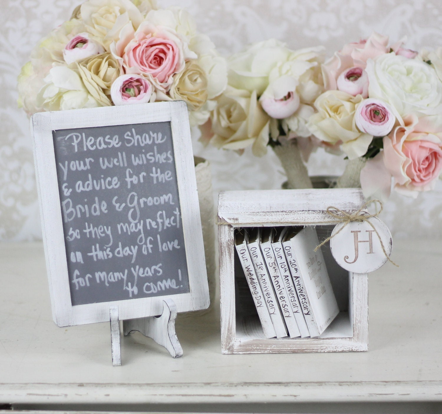 rustic guest book alternative shabby chic wedding by braggingbags. Black Bedroom Furniture Sets. Home Design Ideas