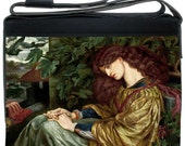 La Pia de Tolommei. Customised laptop bag with Rossetti Pre-Raphaelite print.