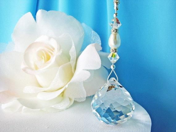 Swarovski Crystal Ball Ceiling Fan Pull Chain Feng Shui Decor