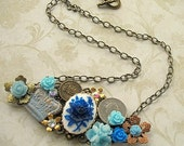 Blue Royalty Collage Necklace NC07