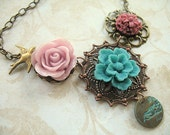 Lavender and Turquoise Garden Necklace NP44