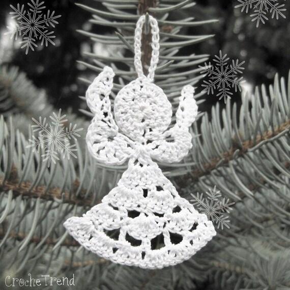 Gratuit crochet patron petit ange no l ornement - Patron ange de noel ...