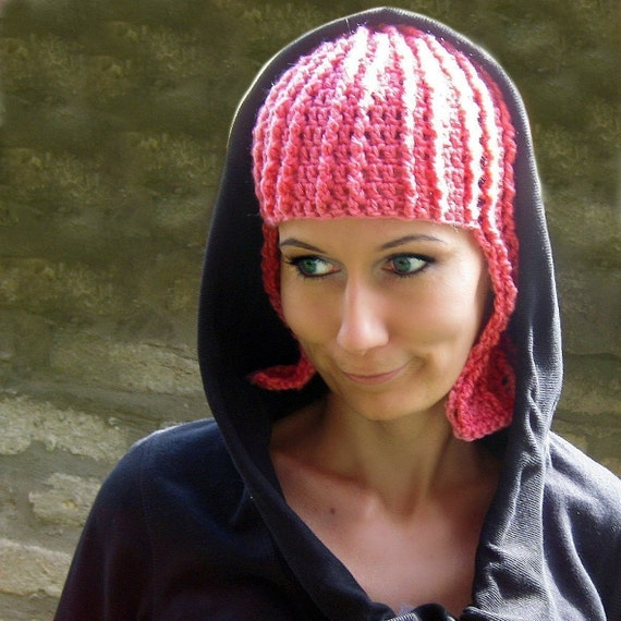 Funny Pink Wig Crochet Pattern