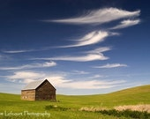 Brown Barn with Beautiful Clouds Photographic Print - On Etsy's Front Page