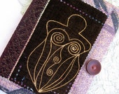 mystical Goddess fabric velvet journal primitive magic wicca blank book