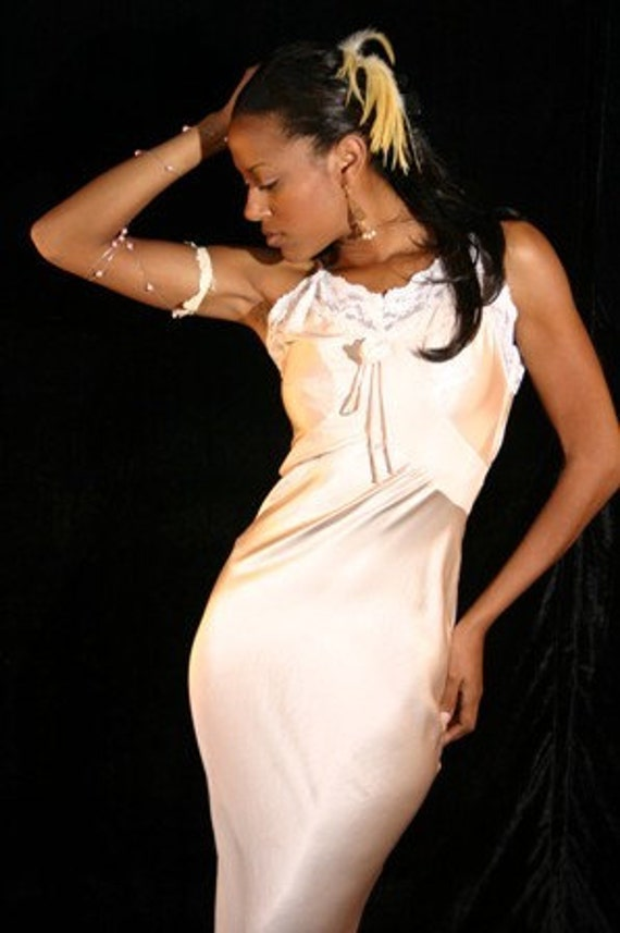 soft,silk vintage,30,is night gown.ore just a dress by stella dottir,