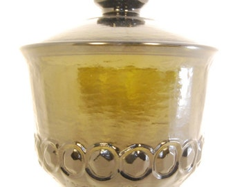 Vintage Olive Green Apothecary Jar - Antique Heavy Thick Glass - Only 1 Available