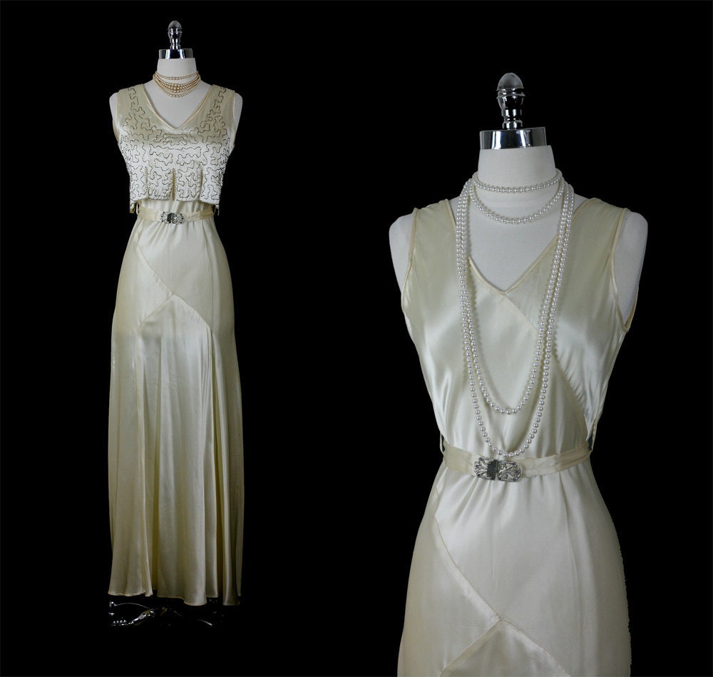 Reserved vintage 30s old hollywood movie star glamour rare for 30s style wedding dress