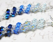 Custom Order for Maureen Water Blue Swarovski Crystal Earrings