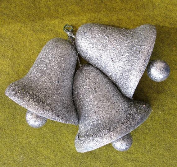 Vintage Holiday Decorative Glitter Bells