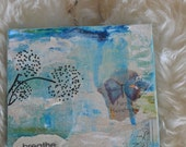 Don't forget to Breathe Mixed Media Reclaimed Tile Art