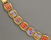 Normandy Enamel Bracelet - Vintage France